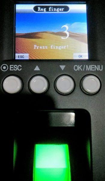 Pendaftaran sidik jari - FingerPrint Time Tech FE 900