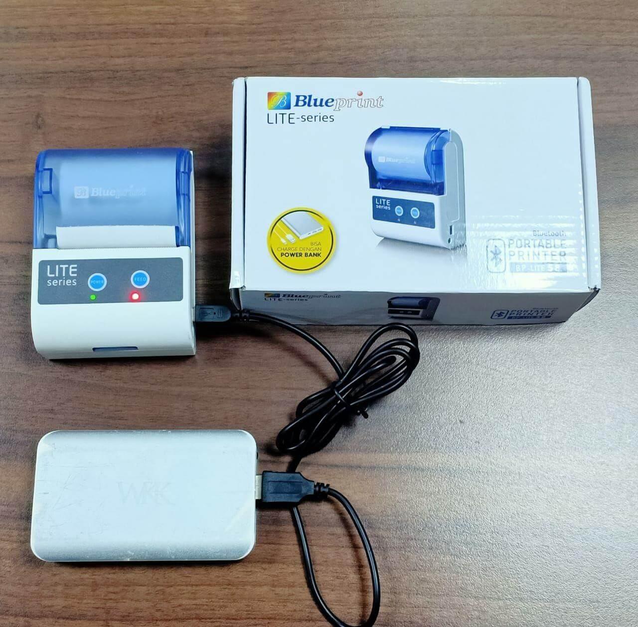 Printer Mini Thermal Bluetooth Murah - BPLite TMU58 - Charge dengan Powerbank