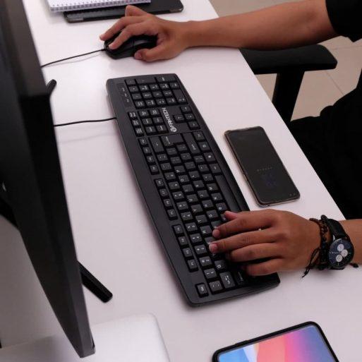 Fantech Keyboard Mouse Office KM100 - 2