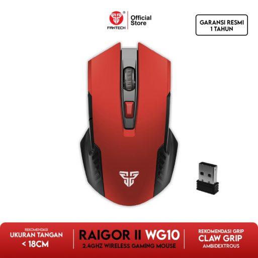 Fantech RAIGOR II WG10 Mouse Wireless Gaming - Ruby Red - 1