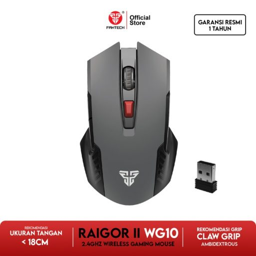 Fantech RAIGOR II WG10 Mouse Wireless Gaming - Ruby Red - 6