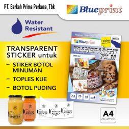 Kertas Blueprint Transparan Sticker Water Resistant 70GSM